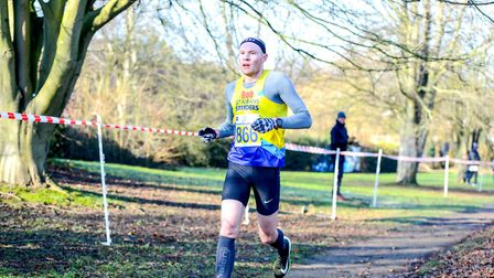 Rob Spencer of St Albans Striders was the men's winner of the 2019 Fred Hughes 10. Picture: NEW PIXE