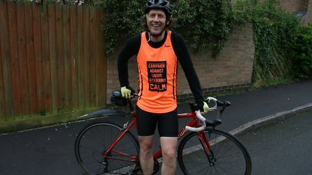 Matt Finch cycled from London to Paris last year. Picture: CONTRIBUTED