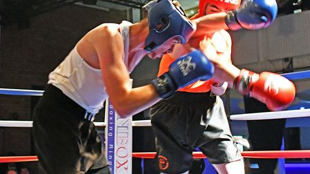 Cambridgeshire Constabulary Amateur Boxing Club dinner show at the Burgess Hall in St Ives on Januar