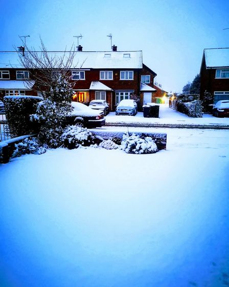 St Albans woke up to a blanket of snow. Picture: Hillary Childs