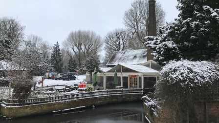 The Waffle House in St Albans, covered in snow. Picture: Stuart Macer