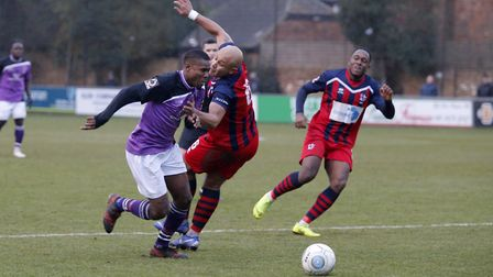 Khale Da Costa slips through the Hampton defence. Picture: LEIGH PAGE
