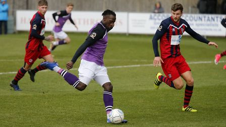 David Moyo prepares to strike. Picture: LEIGH PAGE