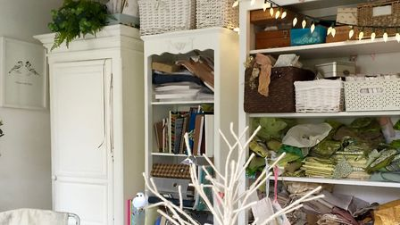 Kate runs her textile art business from a summerhouse-size room in her garden