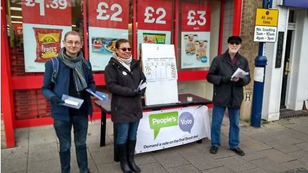 Campaigners took to streets of St Neots as part of People's Vote National Day of Action