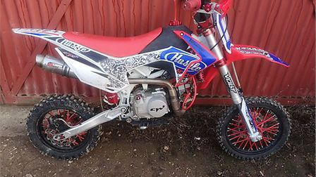 This off-road bike is reported to have been taken during a burglary in Flamsteadbury Lane, Redbourn.