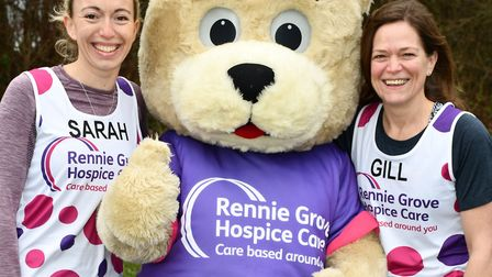Gill Hudnott and Sarah Pritchard are taking part in the London Marathon for Rennie Grove Hospice. Pi