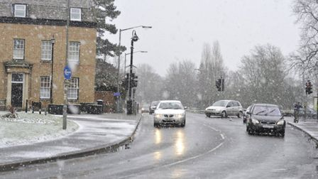 Huntingdonshire is set for a dusting of snow tonight. Picture: ARCHANT