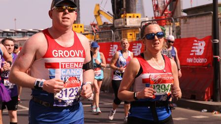 Gary Thorpe at the London Marathon last year. Picture: Submitted by Gary Thorpe