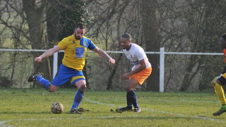 Jimmy Hill playing for Harpenden Town in 2016. Picture: DANNY LOO