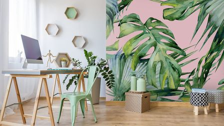 Make It Personal: Pink Jungle Wallpaper, from £26 per square metre, Wallsauce. Picture: Wallsauce/PA