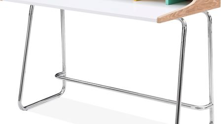 Kill The Clutter: Phoenix Home Desk, Ash Wood and Steel, Pastel, £329, Cult Furniture. Picture: Cult
