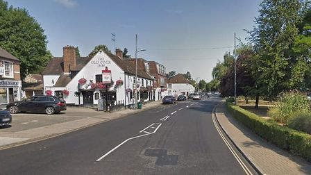 Police arrested three people in a stolen vehicle after they hit an ANPR camera in High Street, Harpe