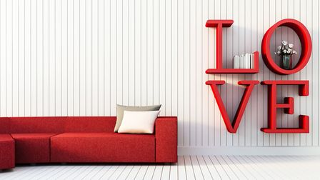 All you need is love this Valentine's Day - and some romance-themed interiors touches. Picture: Thin