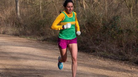 Elaine Livera of Hunts AC was the leading lady in the latest round of the Frostbite Friendly League.