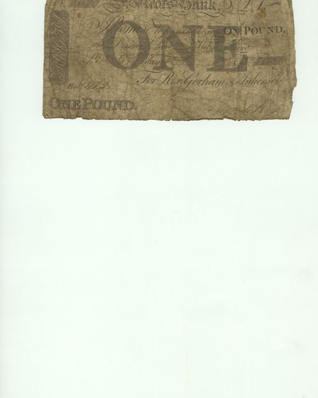 The old one pound note