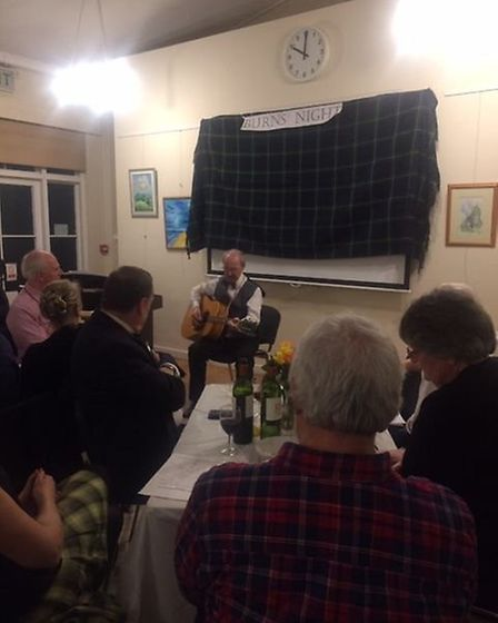 The Burns Night supper for Age Concern St Albans. Picture: Lucy Dronfield