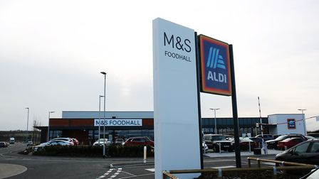 The new M&S Foodhall and Aldi at Royston Gateway. Picture: DANNY LOO