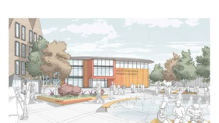 An artist impression of what the new school at Wintringham Park could look like.