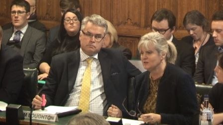 St Albans MP Anne Main applying for the schools funding debate. Picture: Anne Main