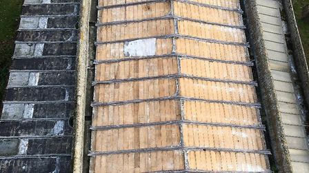 A picture of the roof all All Saints Church the morning after the theft