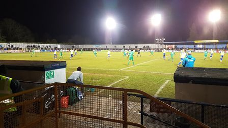 St Albans City took on Watford in the semi-final of the Herts Senior Cup at Clarence Park.