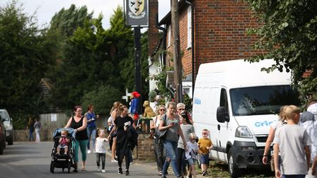 Visitors flocked to Flamstead for the annual scarecrow festival in 2018. Picture: DANNY LOO
