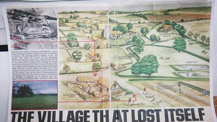 Information on the lost village of Clopton. Picture: DANNY LOO