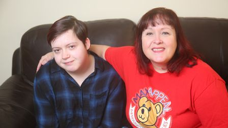Cerys, 18, and Tracey Hennighan is starting a petition to get the blood test for 22q routinely done