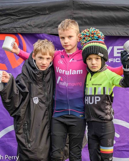 Alarik Knox of Verulam Reallymoving was the winner in the U10 race of the Central Cyclo-Cross League