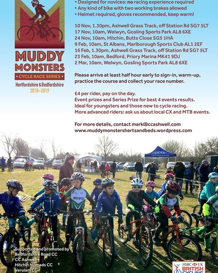 Verulam Cycling Club will host a round of the Muddy Monsters series in February.