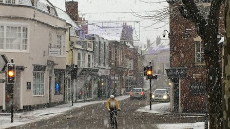 Snow in Saffron Walden during a previous winter. Picture: WILL LODGE