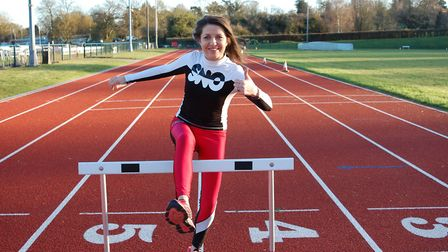 Cllr Annie Brewster at the Abbey View Athletics Track. Picture: St Albans district council