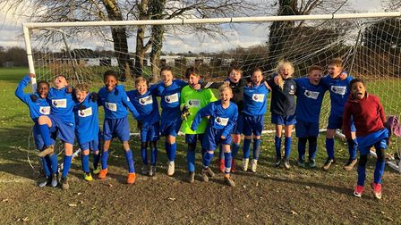The St Peter's School Year 7 football team who reached the last 32 of the National Cup.