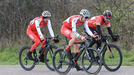 GPN Builders Rock & Road Racing's Sean Meager (left) and Clay Davies.