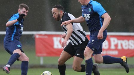 Colney Heath V Arlesey Town - Chris Blunden in action for Colney Heath.Picture: Karyn Haddon