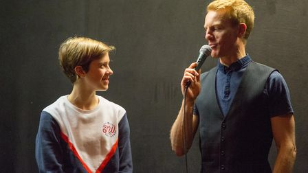 Beth Watson and Jez Cox at the Verulam Reallymoving Racing Team launch event at The Horn. Picture: J