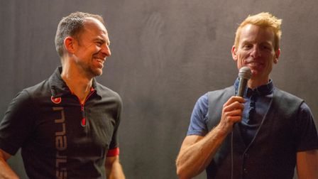 Jared Miller and Jez Cox at the Verulam Reallymoving Racing Team launch event at The Horn. Picture: