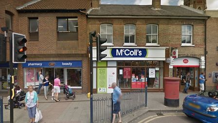 George Sharp, 27, broke into McColls, in High Street, St Neots, through a glass door in the early ho