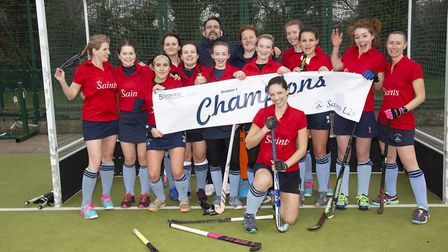 St Neots Ladies 2nds are pictured after clinching the Five Counties Women's League Division One titl