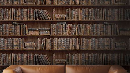 Faking it: You don''t have to own a library to be surrounded by books. This wallpaper from Decoville