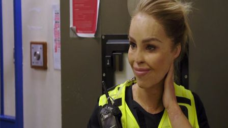 Katie Piper found it difficult to confront her fears in the first episode. Picture: CHANNEL 4