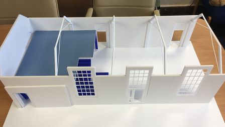 A model of the Fleetville Infant and Nursery School PTA project, which has just won £20,000 from the