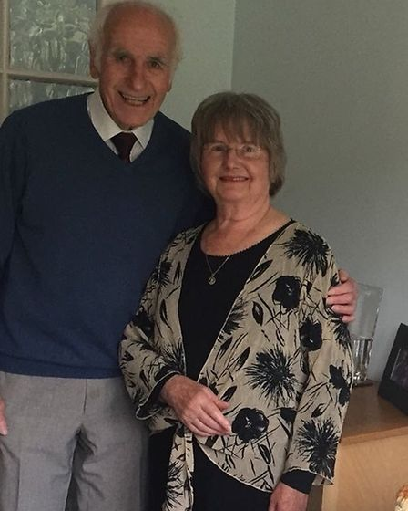 John and Margaret Dudley at their home in Huntingdon