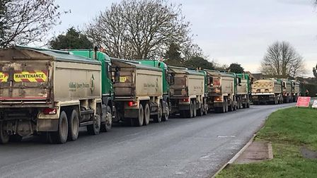 Construction traffic has been a problem for residents in Thrapston Road. Picture: CONTRIBUTED