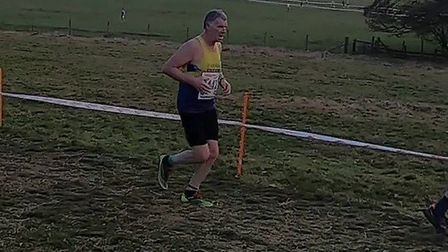 St Albans Striders' Mike Jack at the National Cross Country Championship in Leeds. Picture: CAROLE J