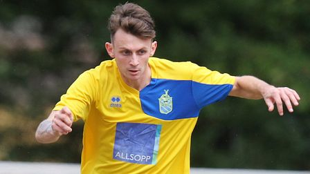 Archie McClelland was on target for Harpenden Town again. Picture: Karyn Haddon