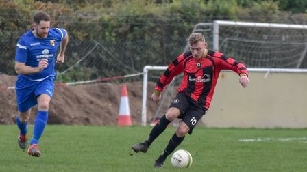 Adam Richardson scored from the penalty spot as Huntingdon Town beat Thrapston. Picture: J BIGGS PHO