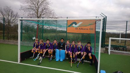 Aldwickbury School were corwed U13 county hockey champions for the first time.