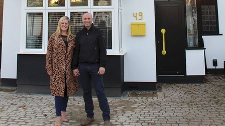 Raff and Anne outside of their semi-detached property in St Albans on the Best House in Town. Pictur